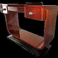 Big Art Deco Mahogany Console Table