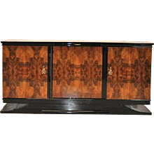 Art Deco Burlwood Sideboard from Southern France