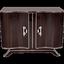 Art Deco Commode with Serpentine Doors