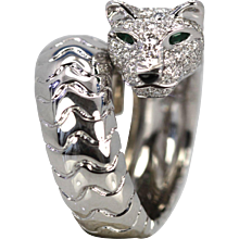 Cartier Panthere Ring with Diamonds