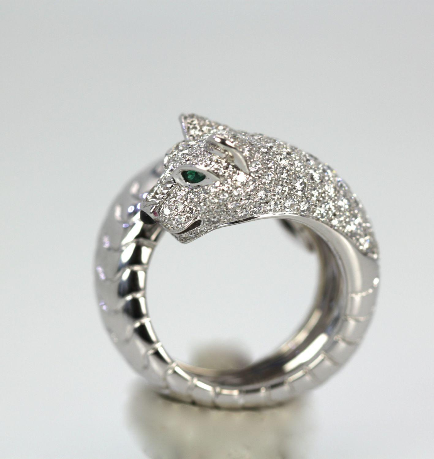 Cartier Panthere Ring With Diamonds From Cris Notti On Rubylux