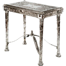 A Victorian Silver-Plate Side Table