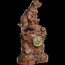 'Black Forest' walnut clock
