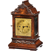 A late William IV rosewood bracket clock by French, Royal Exchange, London,