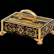 An Antique Regency Boulle Work Desk Tray