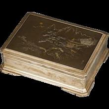 Japanese silver and Komai style box