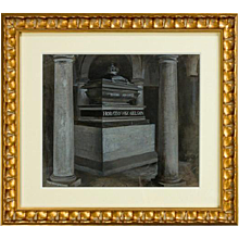 Antique gouache of Nelsons tomb