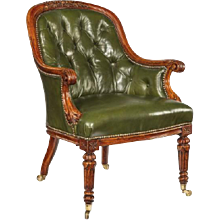 A George I walnut armchair