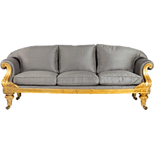 Regency gilt-wood three seater sofa
