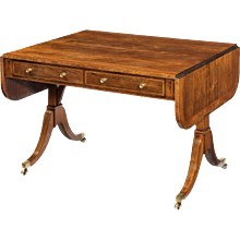 A Fine late George III Rosewood and Satinwood Sofa Table