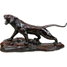 Bronze tiger 3/4 life size