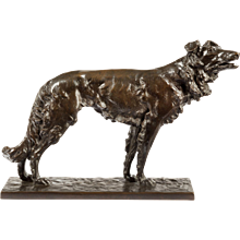 Patinated Bronze Borzoi (Germany, 19th century)