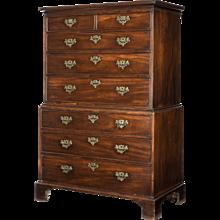 George II mahogany tallboy