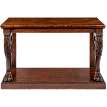 A Regency mahogany console table