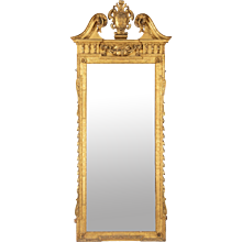Victorian giltwood mirror after a design by William Kent