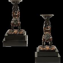 Pair of mid 19th century Venetian Blackamoor Torcheres
