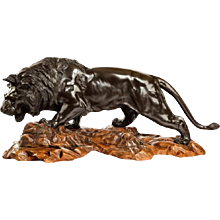 Meiji bronze of a lion