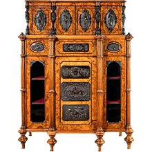 A Burr Walnut Antique Cabinet