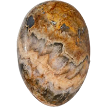 A Regency Blue John egg