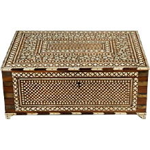 Anglo Indian Vizagapatam sewing box
