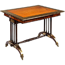 Gillows Rosewood Library Table