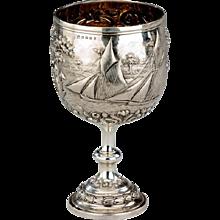 Fine quality silver presentation goblet