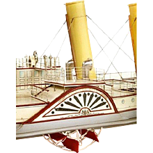 Fine shipbuilder's mirror back model of the paddlesteamer Tantallon Castle