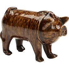 Rye Pottery Sussex Pig Drinking Vessel C.1870