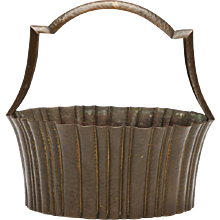 Josef Hoffmann For Wiener Werkstatte Brass Basket C.1920