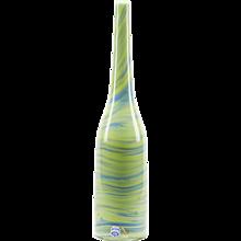 Italian Murano Gino Cenedese Green Marbled Bottle Vase