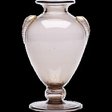 Vintage Murano Martinuzzi Soffiato Glass Vase C.1920