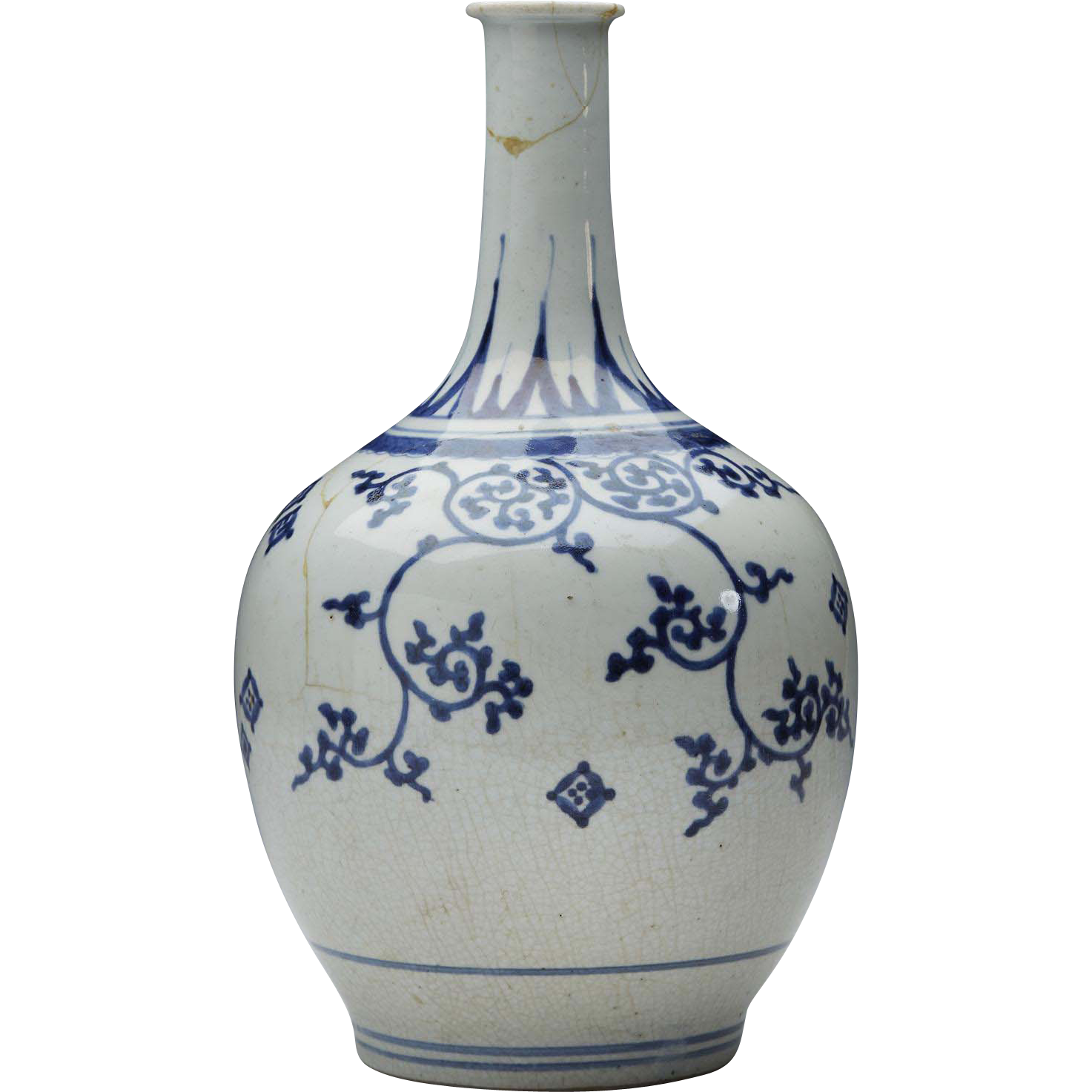 antique japanese imari porcelain blue white vase 17th c from xupes on rubylux. Black Bedroom Furniture Sets. Home Design Ideas