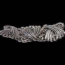 Vintage Los Castillo Taxco #102 Mexico Sterling Silver (925) Leaf Bracelet