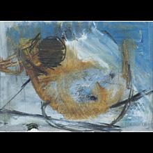 "Melita Denaro (Irish b.1950) ""Storm Over Pollen 1"" Mixed Media"
