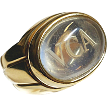 VCA 18K gold ring