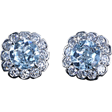 Jubilee cut antique aqua studs