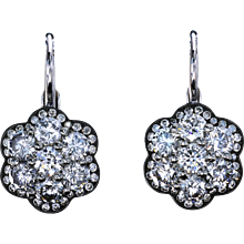 Diamond floret earrings