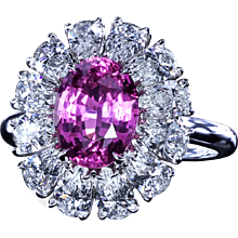 Pink sapphire couture ring