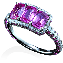 Montpassier™ three-stone ring