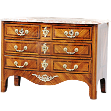 19th Century Antique French Regence Style Bombé Commode