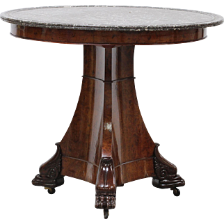 Early 19th Antique French Empire Period Pedestal Table