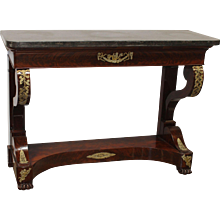 Early 19th Empire Period French mahogany Console Table
