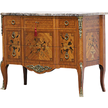 19th Century Antique French Commode Transition Style