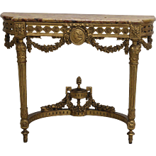 19th Century giltwood console table