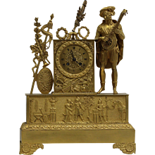 Early 19th Century Ormolu French Empire mantel clock