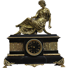 19th Century Ormolu French Empire mantel clock