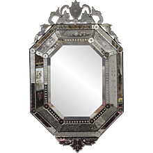 19th Century Antique Venetian Murano Wall Mirror