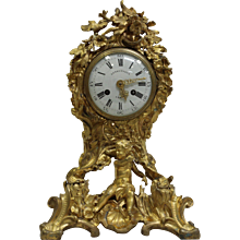 19th Century Louis XV style ormolu mantel clock