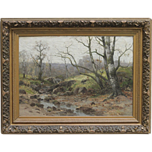 19th Century French landscape by Louis Rémy MATIFAS (French,1847-1896)