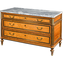 18th Century French Marble Top Commode